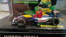 MINICHAMPS 1/43 F1 WILLIAMS FW14 MANSELL TAXI AYRTON SENNA BRITISH GP 1991 RARE