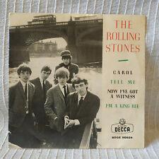 THE ROLLING STONES - CAROL + 3 EP 45 SPANISH PRESS 7'' P/S UNIQUE SPAIN 1964  EX