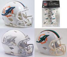 MIAMI DOLPHINS NFL Riddell MINI / POCKET / GUMBALL Football Helmet GIFT COMBO