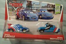 Disney Pixar Cars 2013 World Grand Prix 2-pack RAOUL CAROLE & BRUNO MOTOREAU