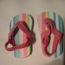 Old Navy and carters infant girls flip flops sandals size 2 lot of 2