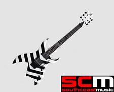 RRP$1600! BC RICH PRO X JINXX MODEL GUITAR BLACK & WHITE STRIPE EMGS FLOYD ROSE
