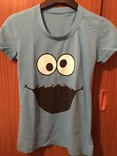 Azul brillante Camiseta Cookie Monster Plaza Sésamo