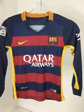 NIKE YOUTH BOYS 2015/16 FC BARCELONA L/S STADIUM SHIRT NAVY/CRIMSON MED NWT