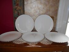 Syracuse China WEDDING RING Salad Plates Silhouette Platinum Vintage BNOS Set 5