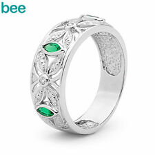 Emerald White Gold Natural Fine Rings