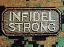INFIDEL STRONG ARMY US MILITARY BADGE TACTICAL FOREST VELCRO® BRAND FASTNER