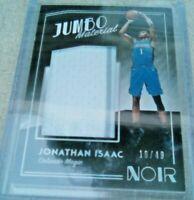 Jonathan Isaac #16/49 Jumbo Game Worn Jersey Orlando Magic Panini 2018-19 Noir
