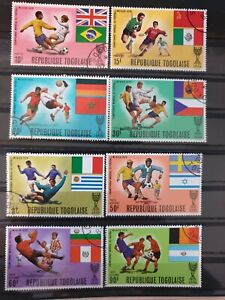 Togo 1970 World Cup Football Championships, Mexico. 8 stamp set CTO