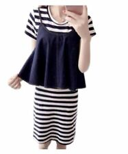 2 in 1 Black and White Dress and Denim Top #A770