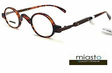NEW Miasto Retro Mini Oval Round Rx Optical Spectacle Eyeglasses Frames~TORTOISE