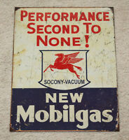 "Mobilgas 12.5"" x 16"" Vintage Style Metal Tin Signs Garage Man Cave Decor Dad"