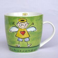 Becher / Tasse mit Schutzengel - grün - Engelbecher - Engeltasse - Kaffeebecher