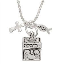 Lord's Prayer Silver Box Locket