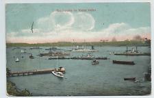 """Kiel - Schiffe """"Geschwader im Kieler Hafen"""" gel. 1910"""