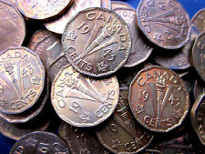 CANADA 1943 TOMBAC WWII 5 CENT  HIGH GRADE COINS BUY 5  GET A FREE ONE