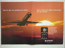 8/1986 PUB SPERRY ELECTRONIC FLIGHT INSTRUMENTS EFIS MD-80 AIRLINER ORIGINAL AD