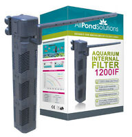 1200L/H Aquarium Internal Fish Tank Submersible Filter All Pond Solutions 1200IF