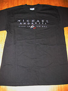 MICHAEL ANDRETTI RACING med T shirt INDY tee Le Mans embroidery OG Made in USA