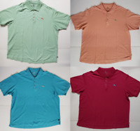 Tommy Bahama Men's Polo Shirt Sz XXL Short Sleeve 3 Button Supima Cotton Marlin