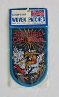 Vintage Woven Patch Southern California Surfer Surfing Surfboard Australia NOS