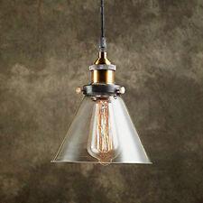 Vintage Industrial Pulley Single Pendant Restoration Chandelier Glass Shade New