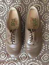 SAS TRIPAD COMFORT WOMENS BEIGE OXFORD SHOES MADE IN USA SIZE 6 WW