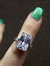 8.5 Carat lab created Zopius Diamond set in 925 Sterling Silver Size 7.5