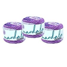 Lion Brand Yarn 551-219 Mandala Ombre Yarn, Chi (Pack of 3 cakes)