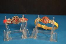 Lot of 2  NOOSA CHARM BRACELETS  New! Jewelry  USA  HEART STAR chunk drillbutton