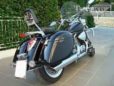 Tsukayu Strong Hardbag For Honda VT750C Shadow Aero (Black)