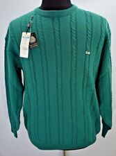 Yamaha Golf Wear mens Green Cable Knit Sweater Sz L
