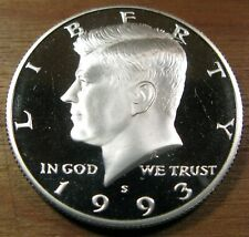 1993-S Silver Proof Kennedy Half Dollar 90% Silver Deep Cameo Proof Coin