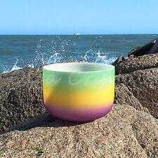 "12"" F Heart Rainbow Quartz Crystal Singing Bowl Meditation Heal Stone"