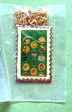 1987 CHARM NECKLACE Stamp Replica 75th Girl Scout Anniversary GIFT Multi=1 Ship