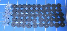 50 - 5/8 Inch Hardboard Discs to Make Five Jointed Teddy Bears - 25 Cotter Pins