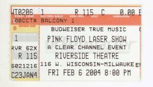 RARE Pink Floyd Laser Show 2/6/04 Milwaukee WI Riverside Theatre Ticket Stub!
