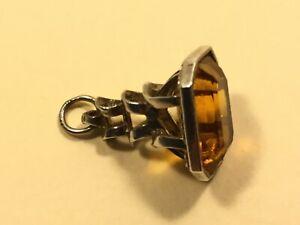 Antique  Silver Fob Pocket Watch Albert Chain / Pendant   ( MJ818)
