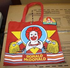 1983 RONALD MCDONALD & GRIMMACE TOTE BAGS NEW WITH TAGS FREE SHIPPING