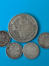 More details for pre 1920 british silver coins - 925 sterling - queen victoria