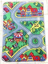 Teppich 80x120cm Motiv Straßen Großstadt Spielteppich Kinderteppich Spielmatte