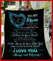 To My Mom - I Will Always Be Your Little Girl (Teal) Sofa Fleece Blanket 50-80