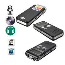 Rechargeable 8GB 650Hr Digital Audio Voice Recorder Dictaphone MP3 Player