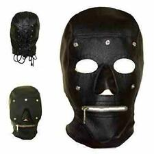 "PU Full Hood Zip Up Mouth & Eye Patch Club ""Mad Max"" Doomsday SM Costume CL H007"