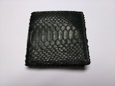 Hand crafted men's black leather wallet