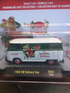 "M2 MACHINE CHASE COCA-COLA 1960 VW DELIVERY VAN ""FOR SPARKLING HOLIDAYS"" GREEN"