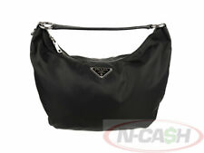 BIDSALEONLY! AUTHENTIC $450 PRADA Nero Nylon Tessuto Ball Hobo Shoulder Bag