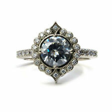 White 1.70 Ct Round Diamond Stunning Engagement Ring 925 Sterling Silver