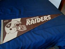"VINTAGE 1970'S ERA NFL LOS ANGELES RAIDERS  FELT  PENNANT 11 3/4"" x 29 3/4"""