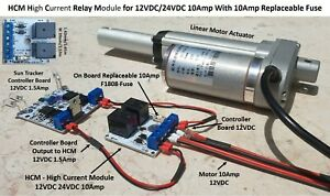 Relay Module Solar Panel Sun Tracking Controller DIY 12V 24V 10Amp On Board Fuse